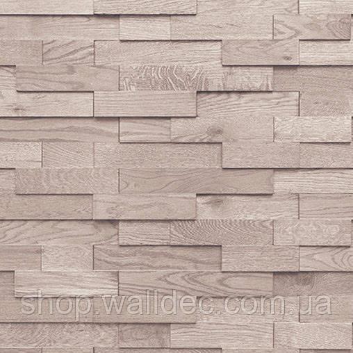 Деревянная панель 3D TONING Brick white