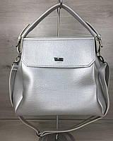 Женская сумка серебряного цвета