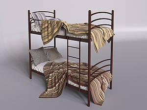 Двухъярусная кровать Tenero Маранто 800х1900 мм металлическая