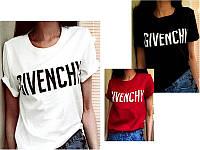 Женская хлопковая футболка с логотипами модных брендов натуральный 100% котон  S M L  черная красная белая