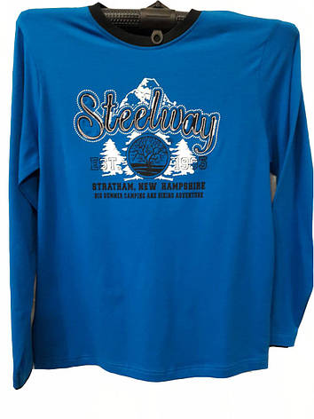 Футболка мужская Steelway с длинными рукавами синяя, фото 2