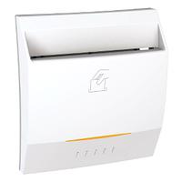 Выключатель карточный с подсветкой и выдержкой времени Белый Unica Schneider, MGU3.540.18