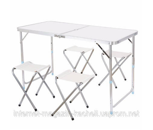 Туристический стол со стульями White