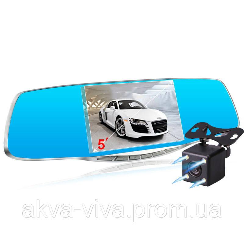 """Зеркало - видеорегистратор 5"""" дюймов с видеопарковкой и камерой заднего вида. Модель ЕА931"""