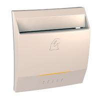 Выключатель карточный с подсветкой и выдержкой времени Слоновая кость Unica Schneider, MGU3.540.25
