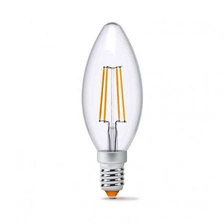 LED Лампа Videx Filament C37 4W 3000K E14