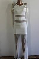Платье в пол с втавками