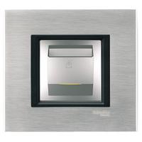 Выключатель карточный с подсветкой и выдержкой времени Алюминий Unica Schneider, MGU3.540.30