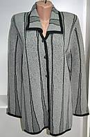 Кардиган женский теплый серого цвета