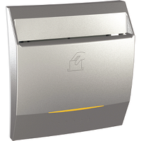 Выключатель карточный с подсветкой и выдержкой времени Алюминий Unica Class Schneider, MGU3.540.30CS