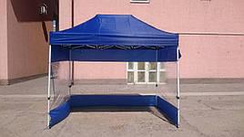 Стенки для шатра 3х3,палатки,беседки,навеса, из ткани с ПВХ окнами, L-9м, H-2.1м