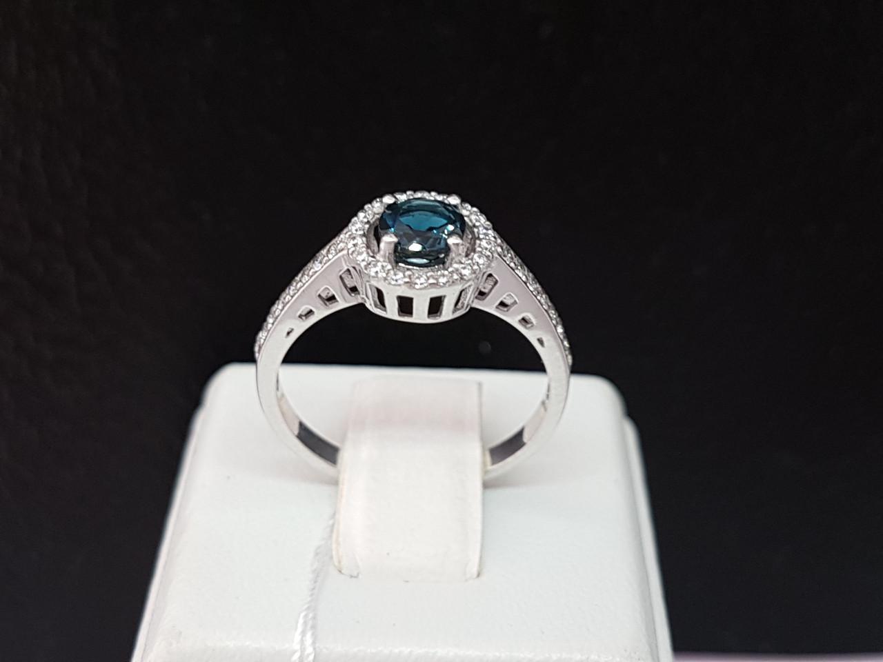 Серебряное кольцо Алина с топазом. Артикул 1691/9р-TLB 17