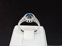 Серебряное кольцо Алина с топазом. Артикул 1691/9р-TLB 17, фото 1