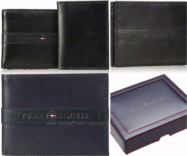 a7f8ced3d0f3 Кожаный кошелек мужской Tommy Hilfiger оригинал брендовый портмоне бумажник  - MarkShop - детская и взрослая одежда