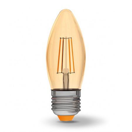 LED Лампа Videx Filament C37 4W 2200K E27