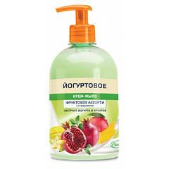 Крем-мыло Вельта Йогуртовое  доз. фруктовое ассорти с глицерином 500 мл