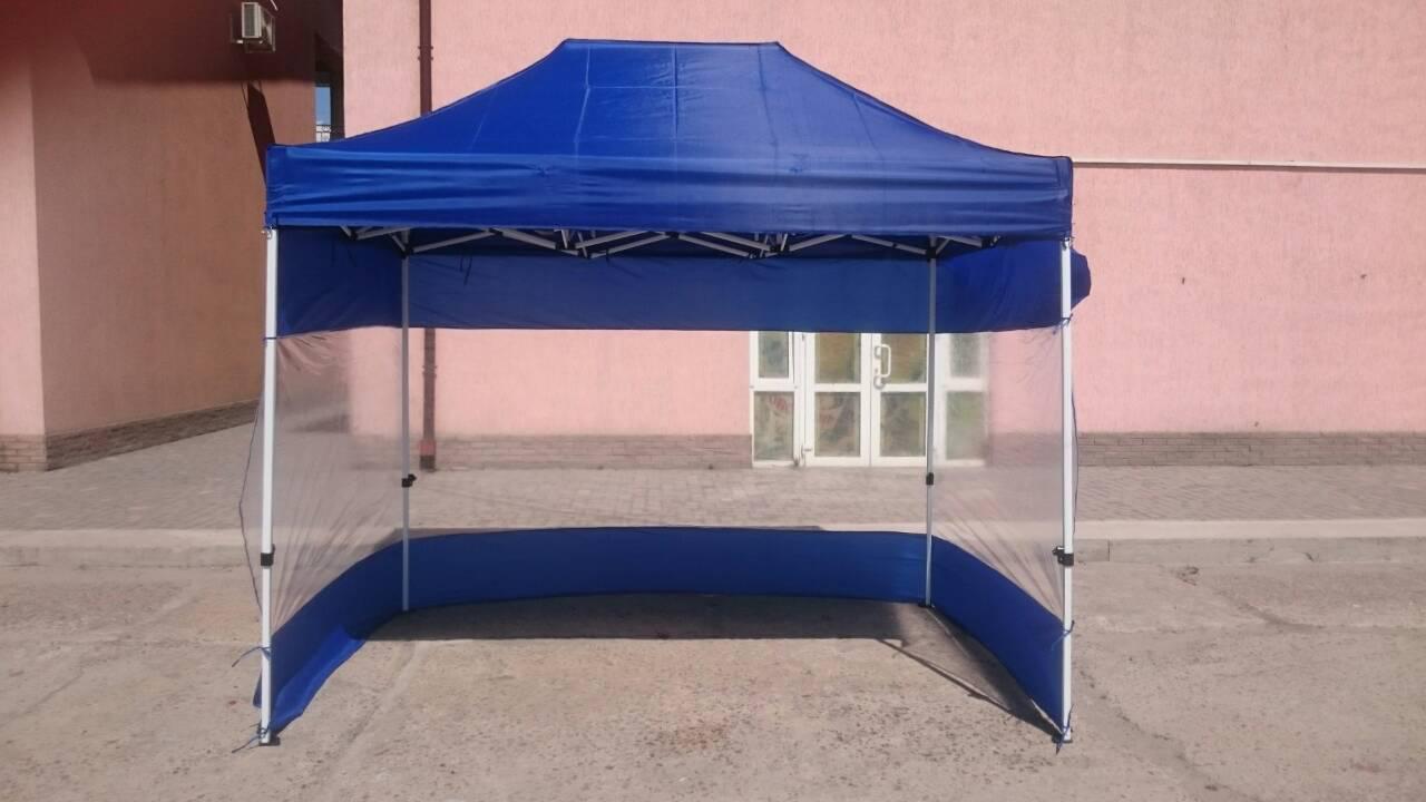 Стенки для шатра 3х6,палатки,беседки,навеса, из ткани с ПВХ окнами, L-12м, H-2.1м