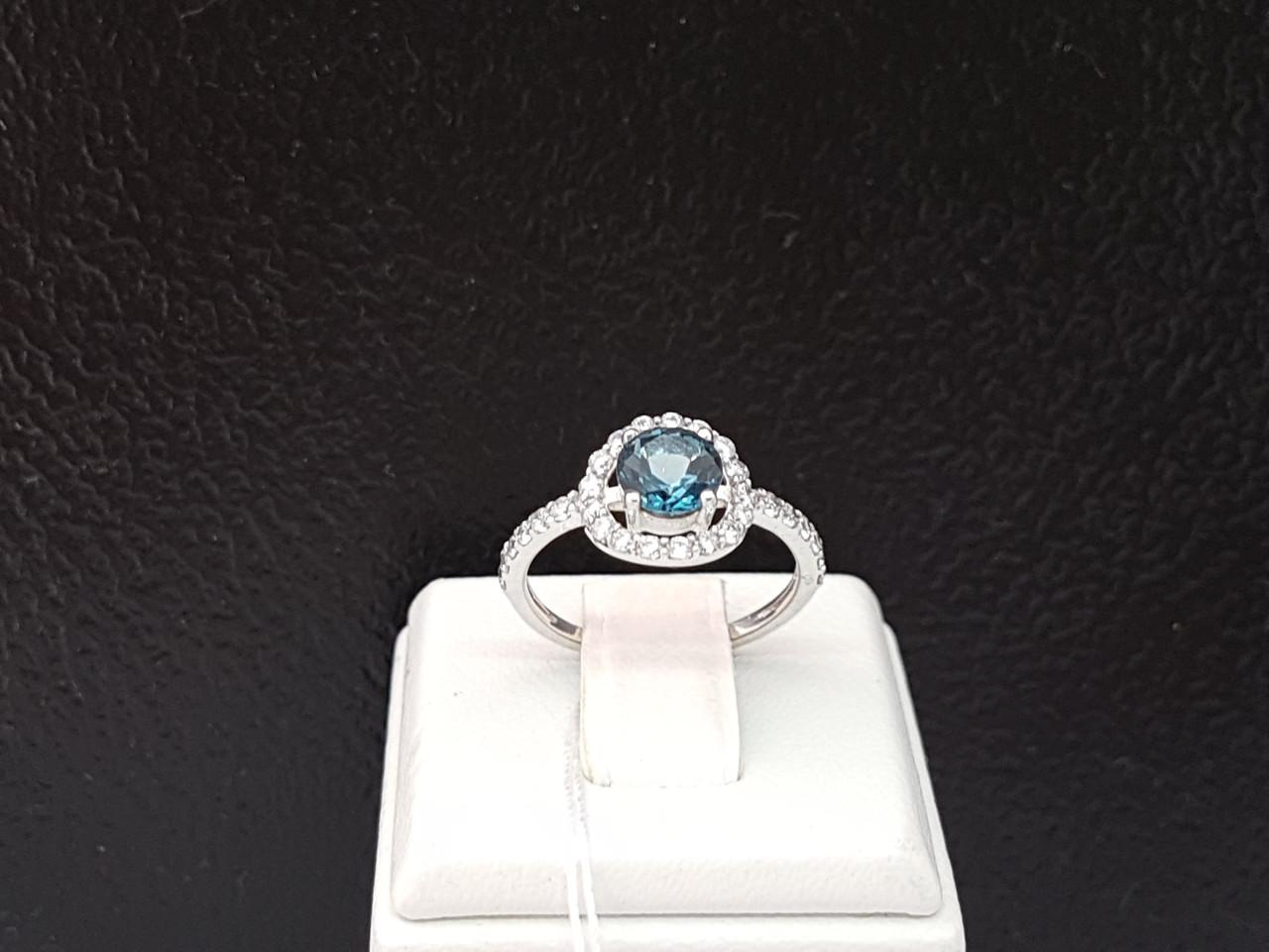 Серебряное кольцо Ярина с топазом. Артикул 1596/9р-TLB 16,5