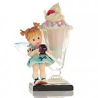 Милая статуэтка Феи С Днем Рождения Десерты Нежный символ праздничной радости веселья Код: КГ4490