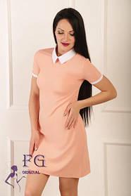 Платье с воротником «Мелани» распродажа цвет персик