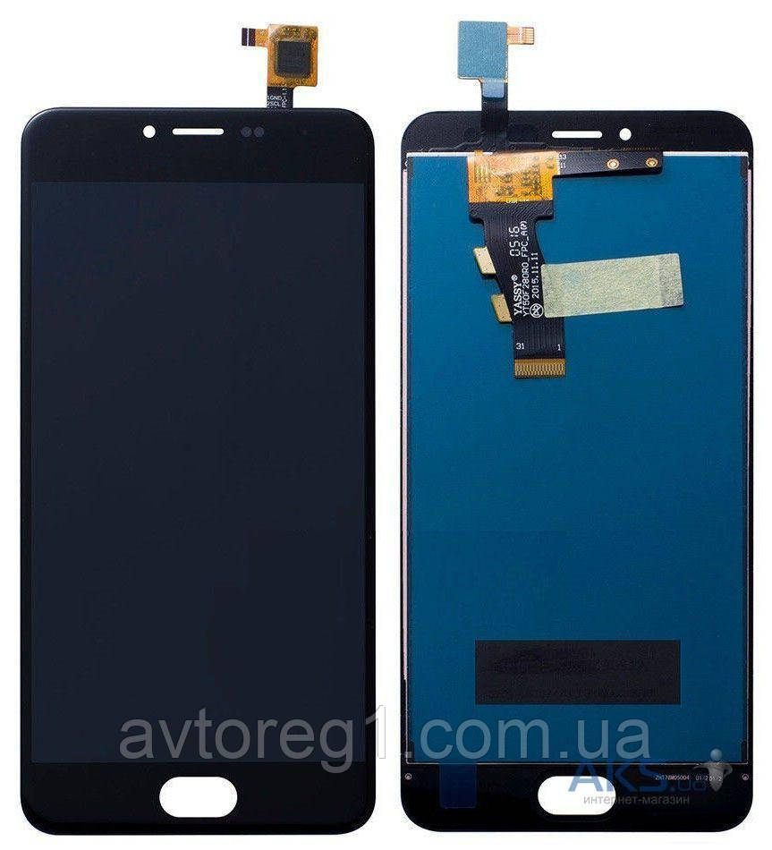 Дисплей Meizu M3S with touchscreen black orig (FPC-T50KB186S3M-1 V.01 home 15mm)