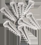Дюбель-елочка зажим для плоского кабеля П4 100шт/уп
