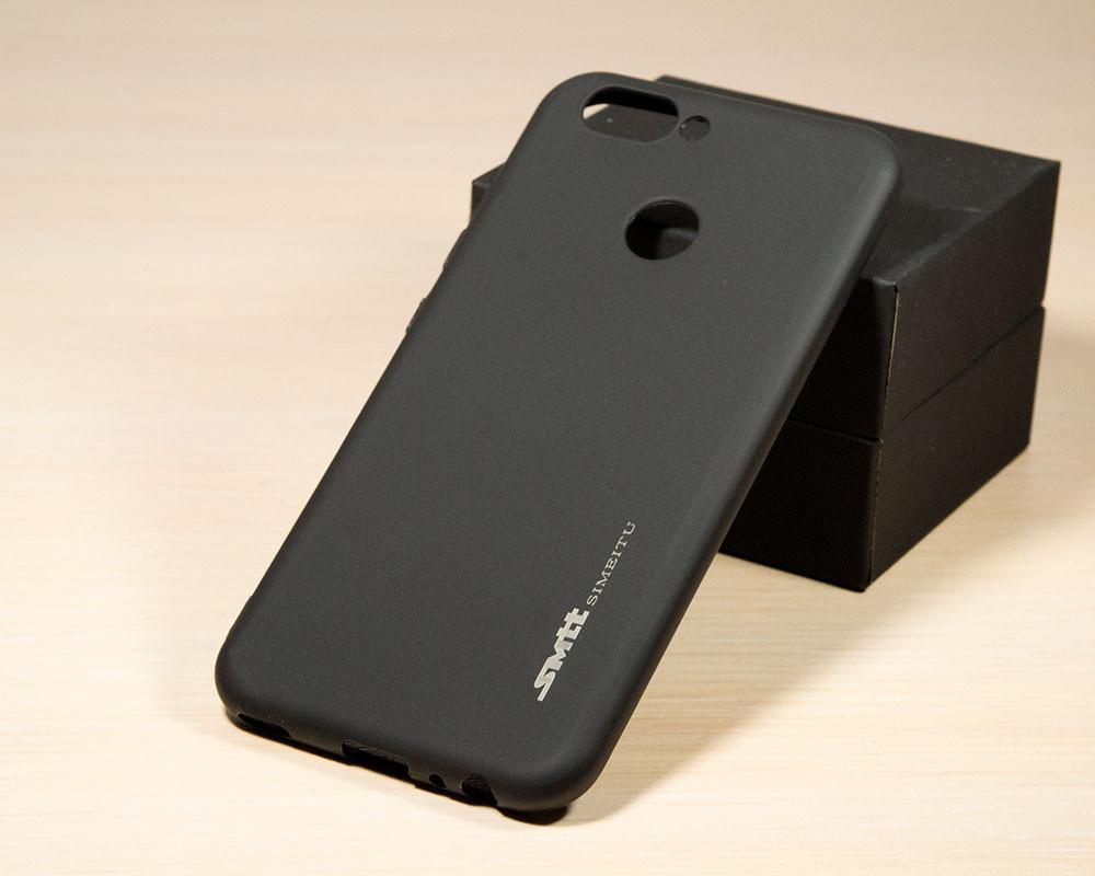 TPU чехол накладка Smitt для Huawei Nova 2 (Черный)