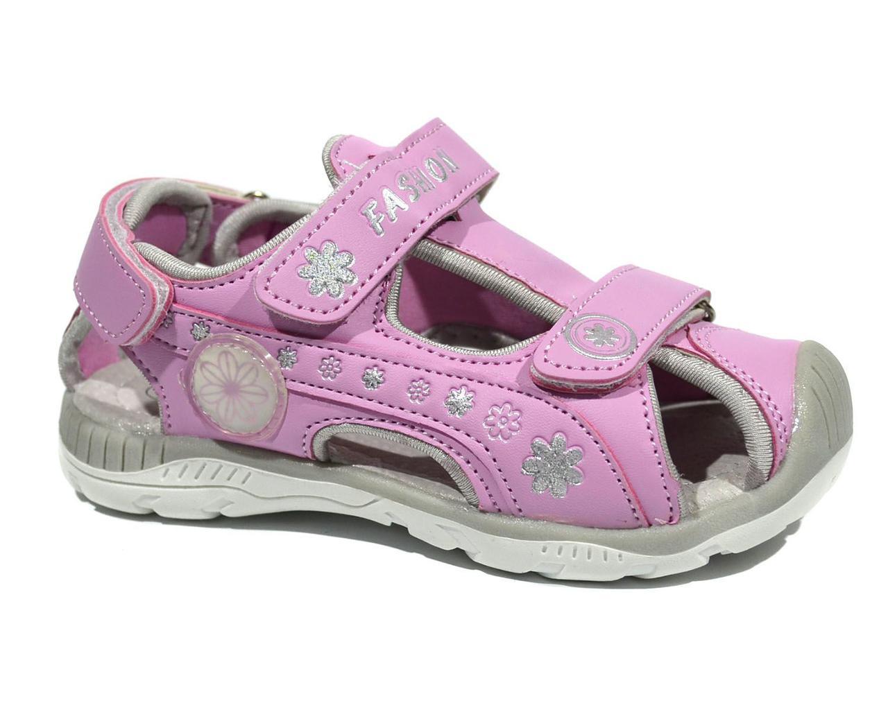 Босоножки для девочки ТОМ.М Pink закрытый носок