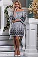 Красивое стильное летнее женское платье 2639 бело-черная полоска, фото 3