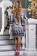 Красивое стильное летнее женское платье 2639 бело-черная полоска, фото 5
