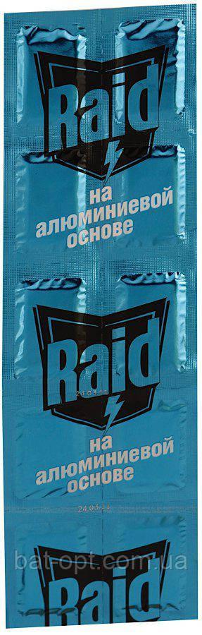 """Пластины """"Raid"""" от комаров на алюминиевой основе"""