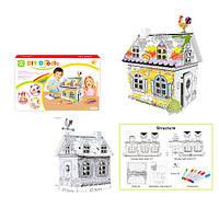 Набор для творчества MK 2135 (12шт) домик-раскраска,32,5-23,5-51см,фломастеры,в кор-ке,40-24,5-4,5см