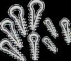 Дюбель-елочка зажим для круглого кабеля 6мм 100шт/уп