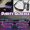 """Світяться окуляри - """"Party Glasses"""" - провідні"""