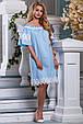 Красивое летнее женское платье 2641 голубой, фото 3