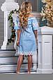Красиве літнє жіноче плаття 2641 блакитний, фото 5
