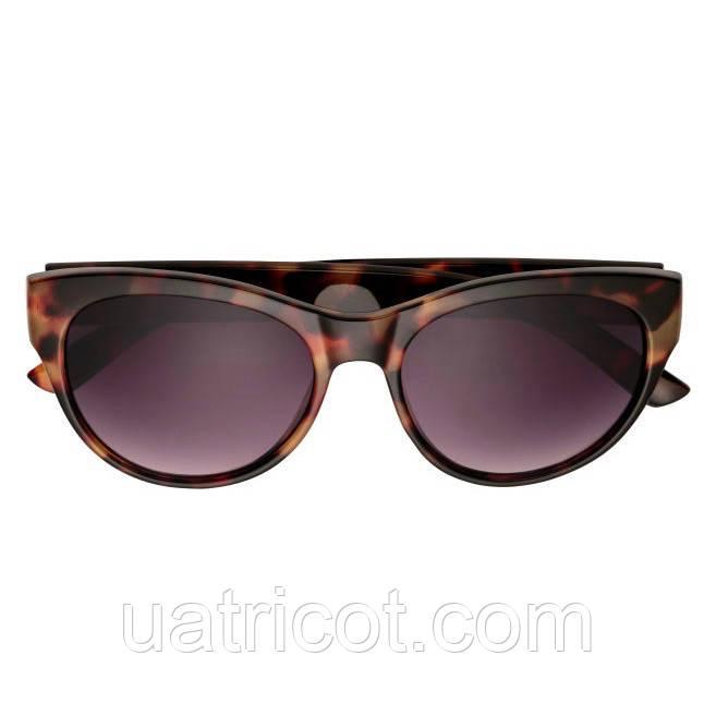 Женские овальные солнцезащитные очки Премиум класса в коричневой оправе