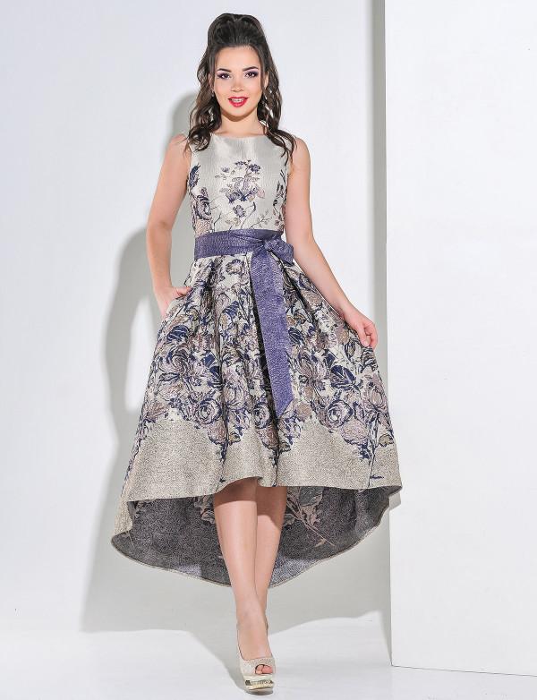 20444215017 Стильное нарядное платье из итальянского жаккарда - Модный магазин в Киевской  области