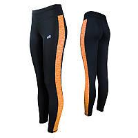 8c00ce46ac99b Спортивные женские легинсы Radical Strokes (original), леггинсы для бега,  лосины для йоги, фитнеса, спортзала Женский, S, черно-оранжевый