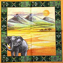 Декупажные салфетки Слон 521