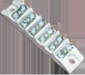 Приборная керамическая клеммная колодка в 6-ти полюсном варианте
