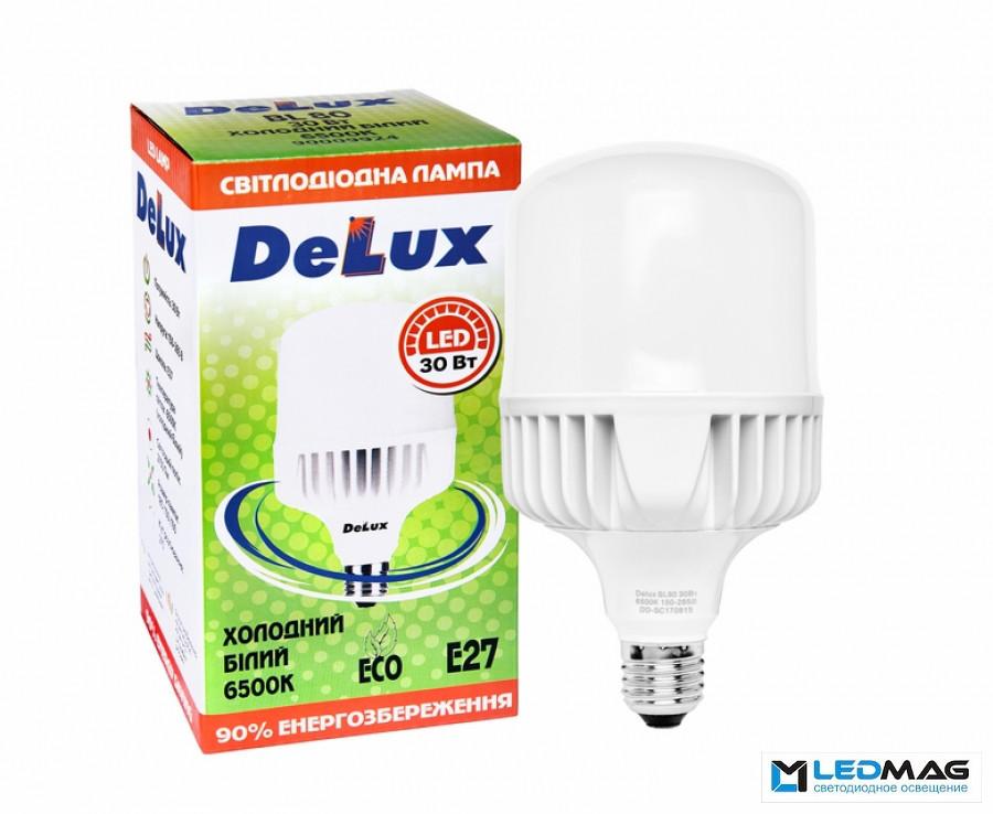 Светодиодные высокомощные LED лампы DELUX 30Вт BL80 Е27 Нейтральный белый 4100К промышленные