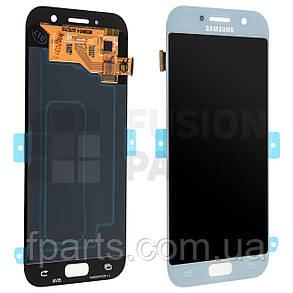 Дисплей Samsung A520 Galaxy A5 (2017) с тачскрином (Blue) Service Original, фото 2