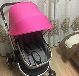 Солнцезащитный козырек для коляски. Цвет Малиновый. , фото 2