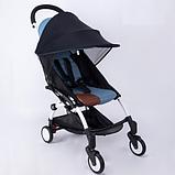 Солнцезащитный козырек для колясок. Цвет Голубой., фото 3