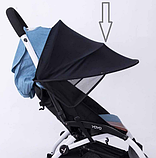 Козырек от солнца на коляску или автокресло. Цвет Черный. , фото 3