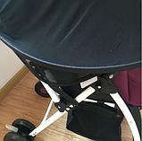 Солнцезащитный козырек для коляски. Цвет Малиновый. , фото 6