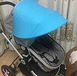 Солнцезащитный козырек для колясок. Цвет Голубой., фото 2