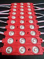 Светодиодный модуль SMD 2835 3 диода 0.72W красный, фото 1