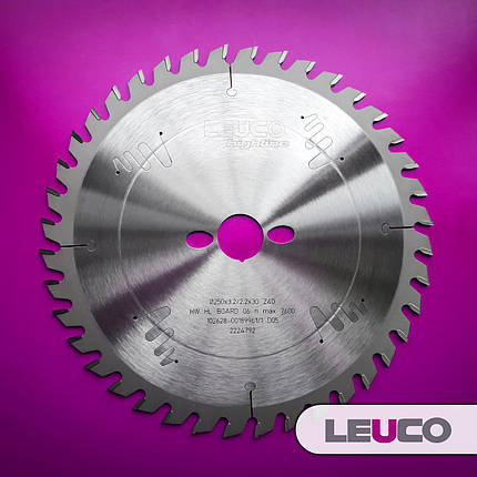 Универсальные дисковые пилы по дереву Leuco для торцовки и продольного реза, 250x3,2x2,2x30 Z=40, фото 2